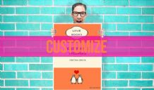 Customized Wedding couple Penguin Book Art Pint - Wall Art Print Poster Any Size - Purple Geekery